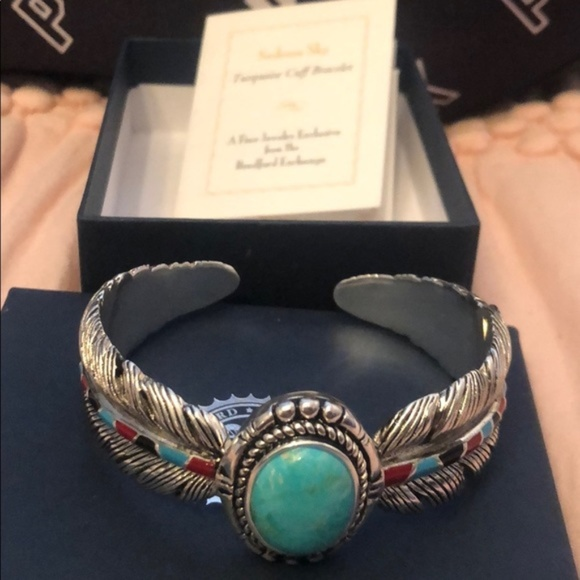 Bradford Exchange Jewelry - Bradford Exchange Turquoise Cuff Bracelet